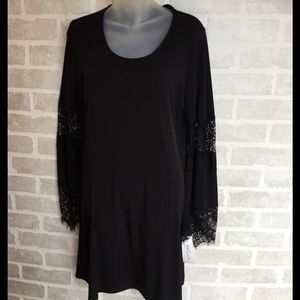 Women's L NY collection black dress